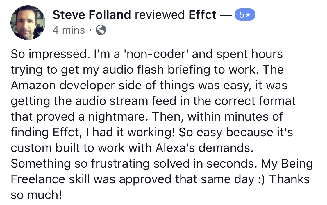 Steve Folland testimonial